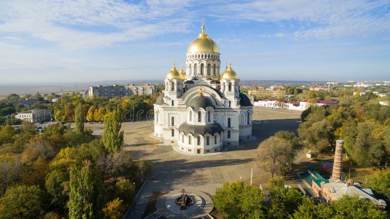 Cathédrale d'ascension de centre serveur Novocherkask Russie photos stock