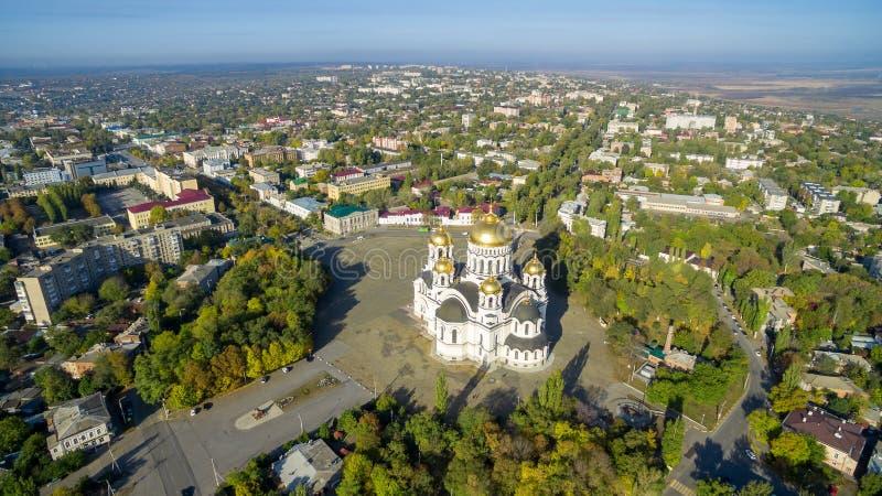 Cathédrale d'ascension de centre serveur Novocherkask Russie photographie stock