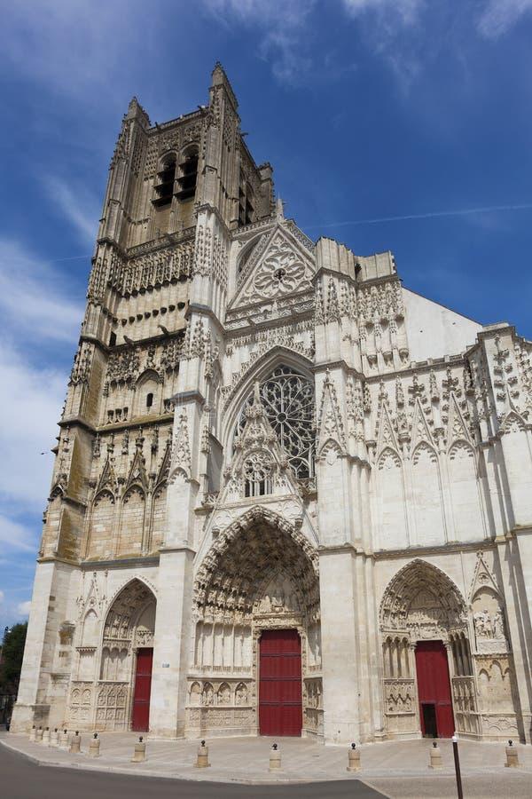 Cathédrale d'Auxerre photographie stock