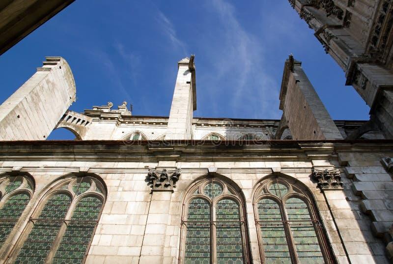 Cathédrale d'Auxerre (Bourgogne France) image libre de droits
