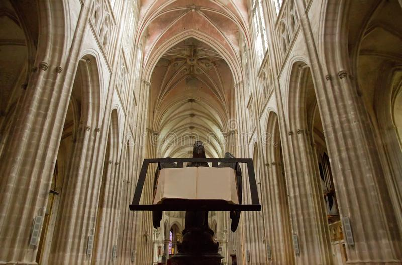 Cathédrale d'Auxerre (Bourgogne France images stock