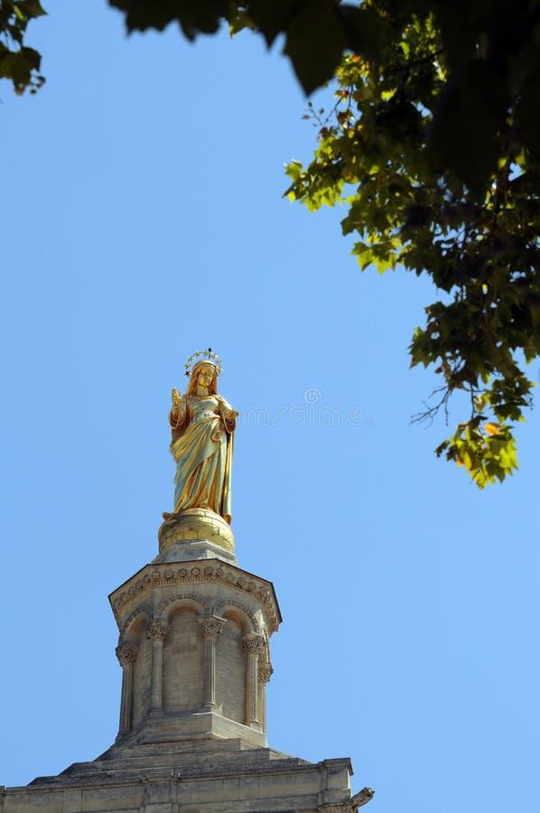 Cathédrale d'Avignon images libres de droits