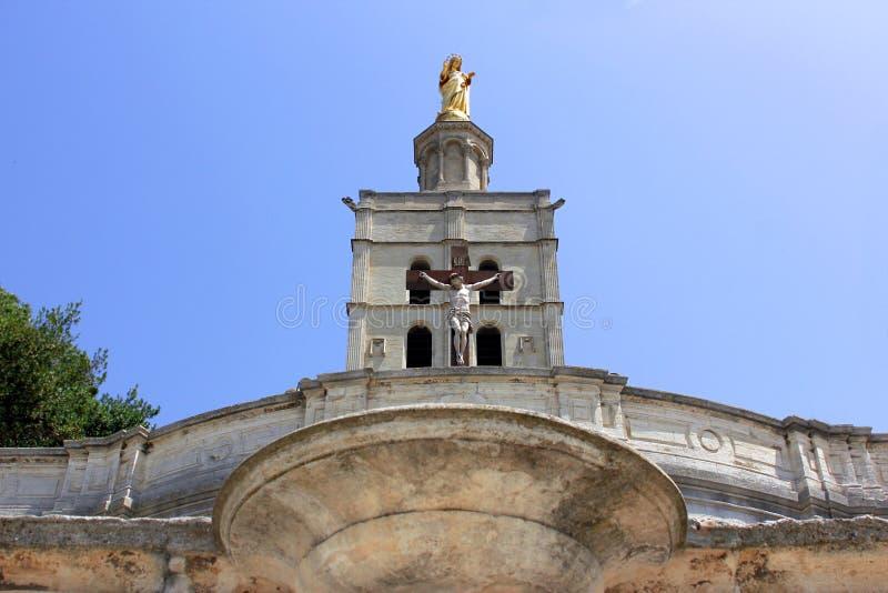 Cathédrale d'Avignon photographie stock
