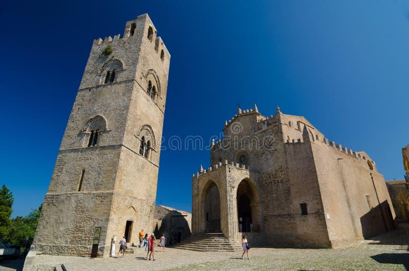 Cathédrale d'Erice, Santa Maria Assunta, Chiesa Madre dans Erice, province de Trapani La Sicile, Italie image stock