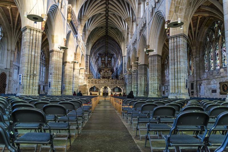 Cathédrale d'Exeter, Devon, Angleterre, Royaume-Uni photo stock
