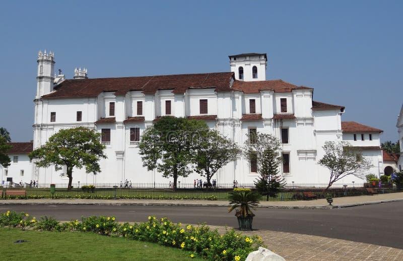 Cathédrale de Se dans Goa images libres de droits