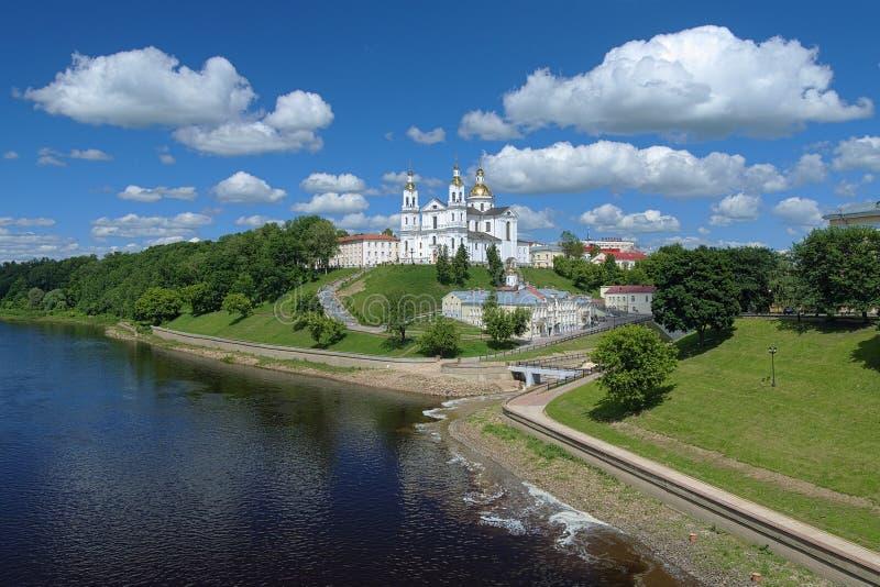 Cathédrale d'hypothèse à Vitebsk, Belarus image libre de droits