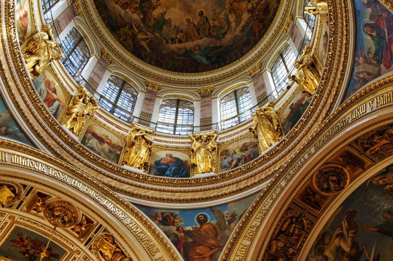 Cathédrale d'Isaacs dans le St Petersbourg, Russie images stock