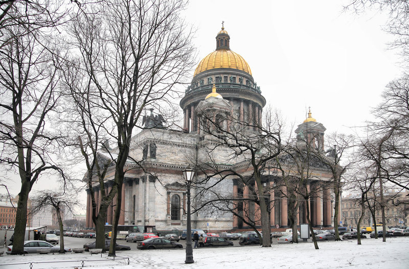 Cathédrale d'Isaakiyevskiy photos stock