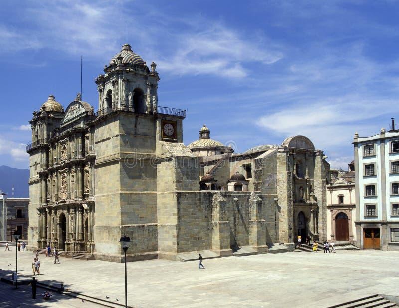 Cathédrale d'Oaxaca images stock