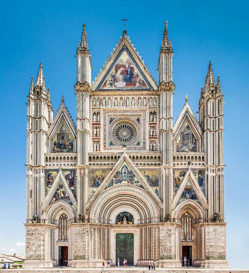 Cathédrale d'Orvieto (Duomo di Orvieto), Ombrie, Italie image stock