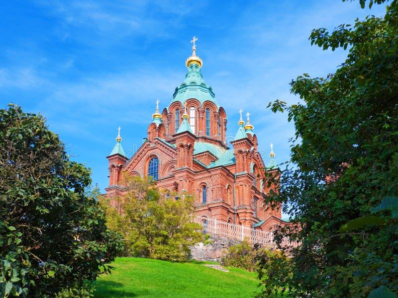 Cathédrale d'Uspenski à Helsinki, Finlande photographie stock