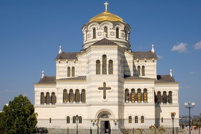 Cathédrale dans Chersonesos image libre de droits
