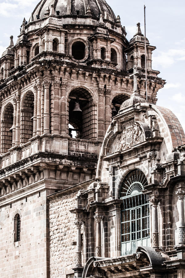 Cathédrale dans la ville de Cuzco, Pérou images libres de droits