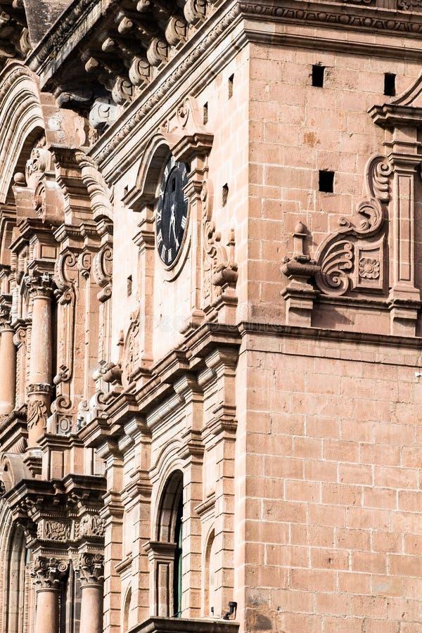 Cathédrale dans la ville de Cuzco, Pérou photographie stock libre de droits