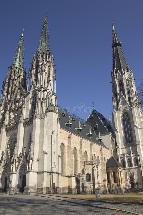 Cathédrale dans Olomouc (République Tchèque) photo stock