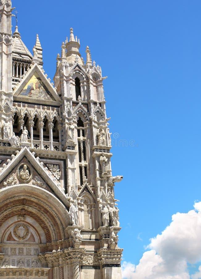 Cathédrale dans Sienna, Italie images libres de droits