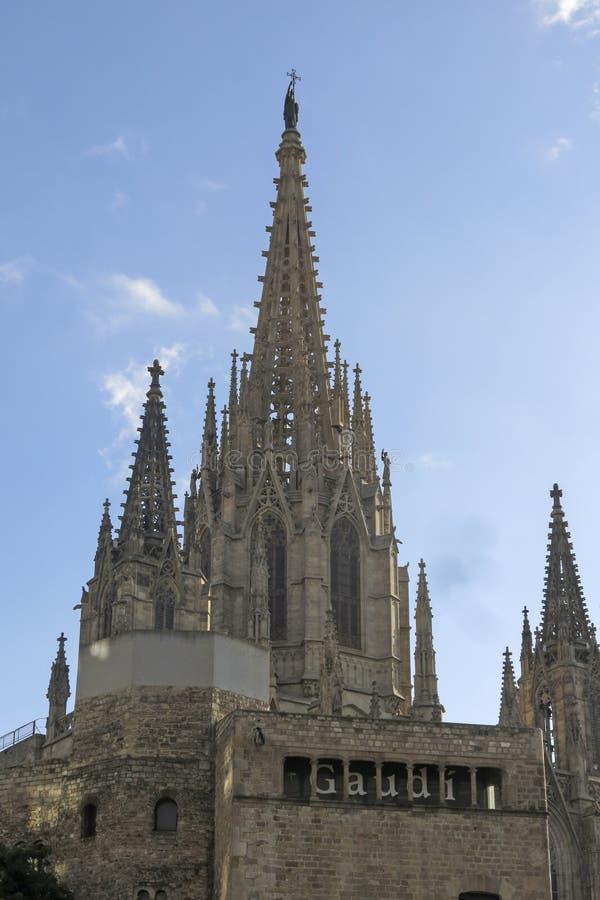 Cathédrale de Barcelone photos libres de droits