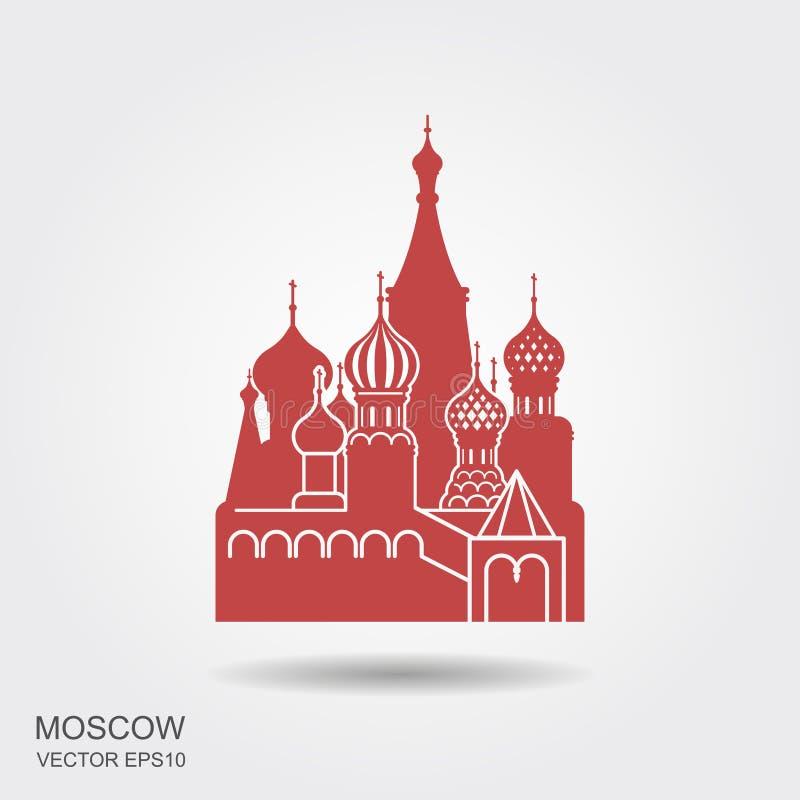 Cathédrale de Basil de saint, Moscou, icône de vecteur illustration de vecteur