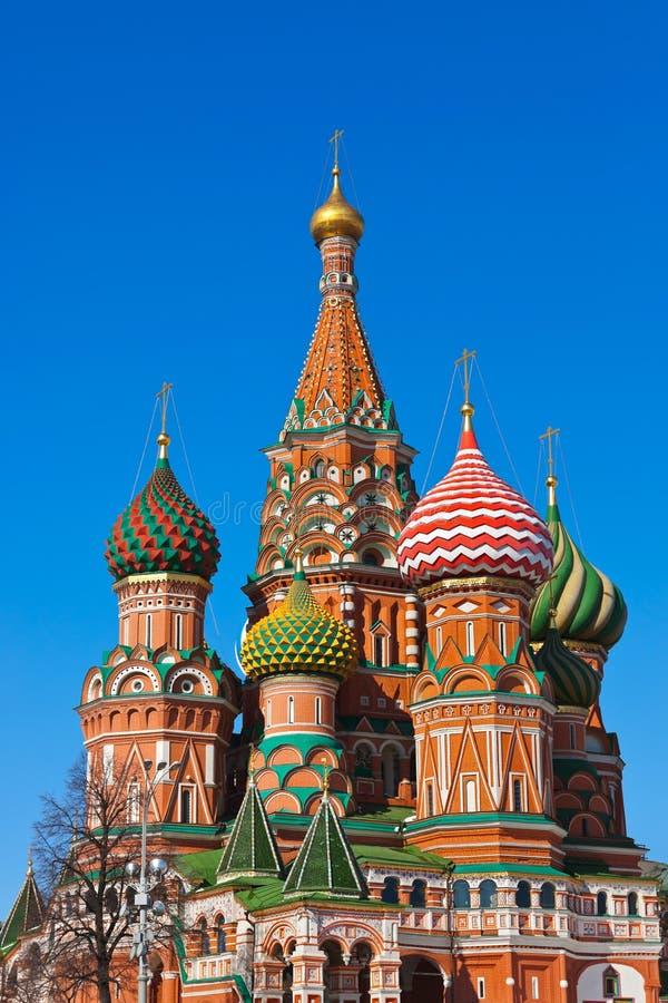 Cathédrale De Basilic De Saint Sur Le Grand Dos Rouge, Moscou Photo stock