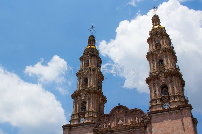Cathédrale de basilique de visibilité directe Lagos de Nuestra Senora de San Juan De photos libres de droits