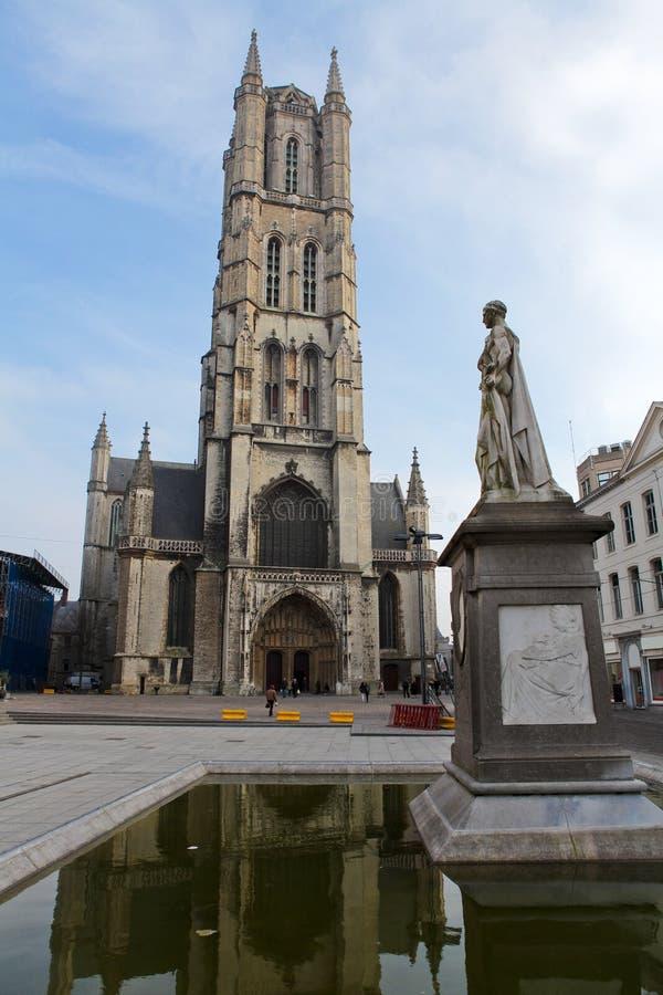 Cathédrale de Bavo de saint à Gand photos libres de droits