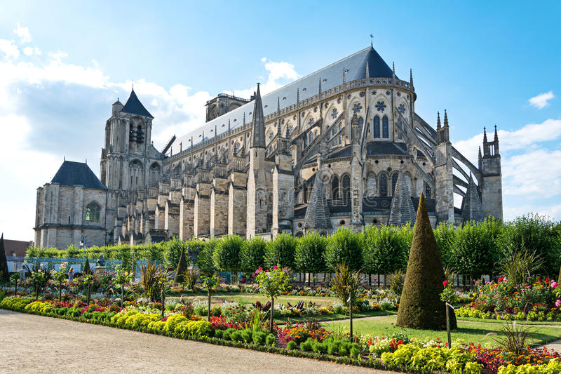 Cathédrale de Bourges, France photo stock
