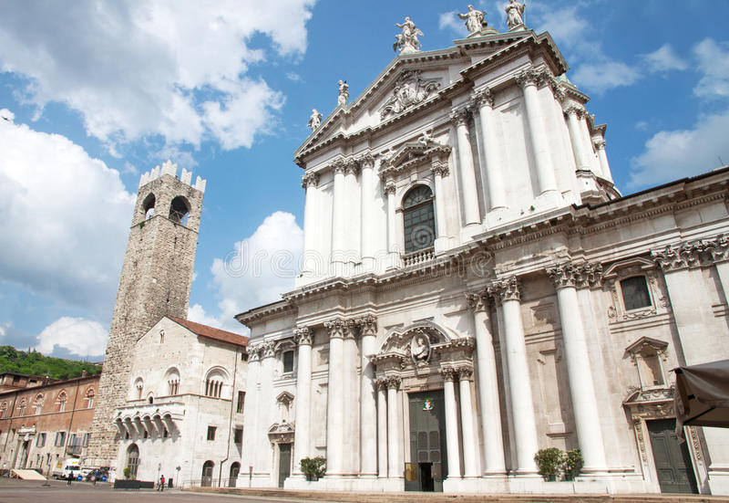 Cathédrale de Brescia, Italie photographie stock