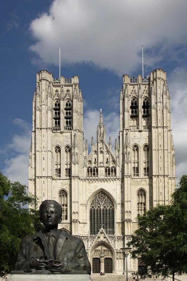 Cathédrale de Bruxelles photographie stock libre de droits