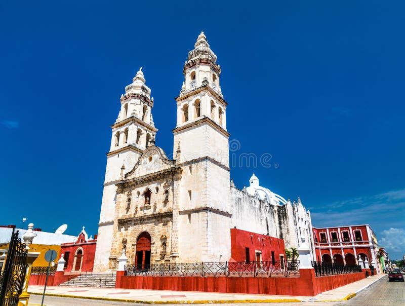 Cathédrale de Campeche au Mexique image stock