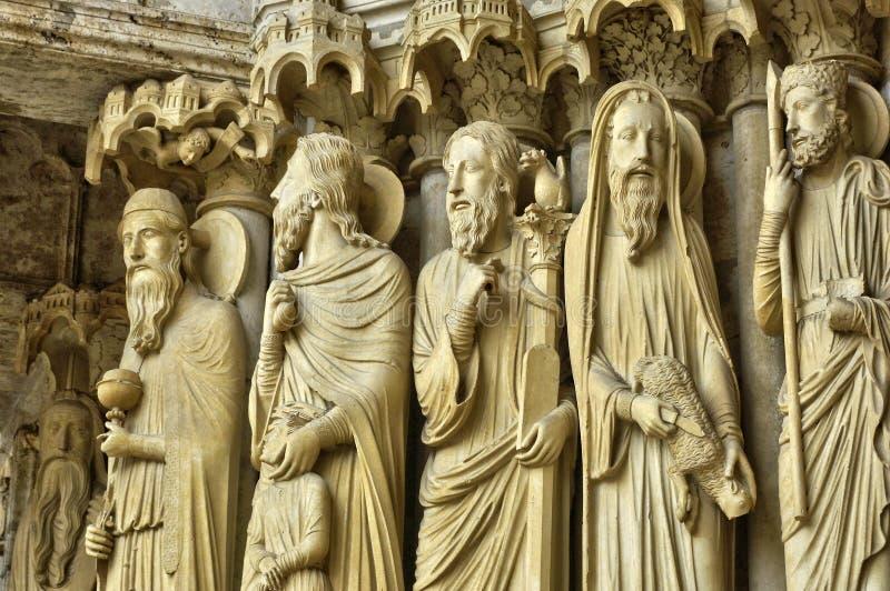 Cathédrale de Chartres dans Eure et Loir images libres de droits