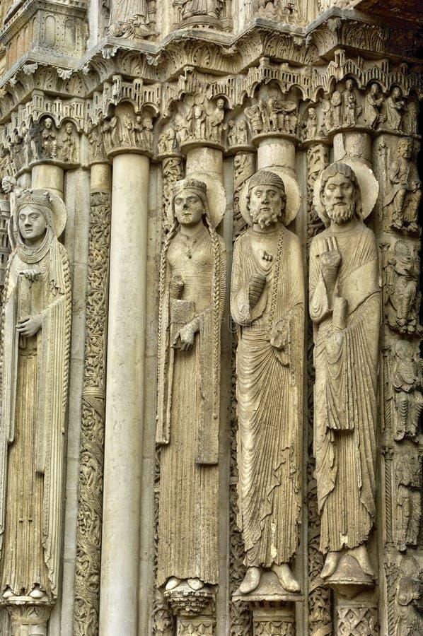 Cathédrale de Chartres dans Eure et Loir photo libre de droits