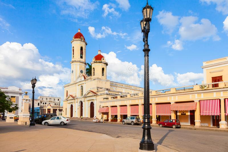 Cathédrale de Cienfuegos au Cuba photo stock