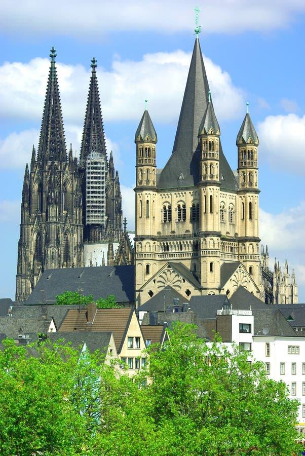 Cathédrale de Cologne. images libres de droits