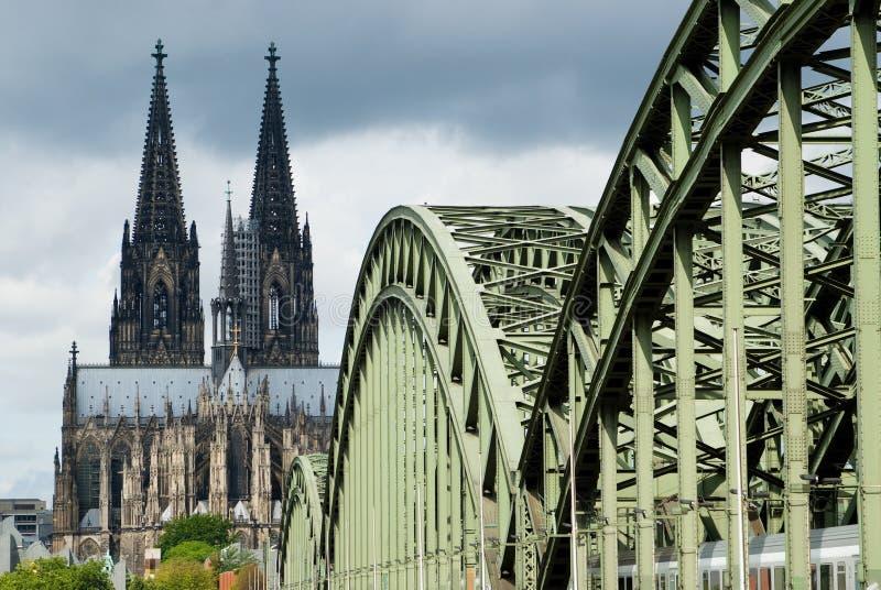 Cathédrale de Cologne images libres de droits