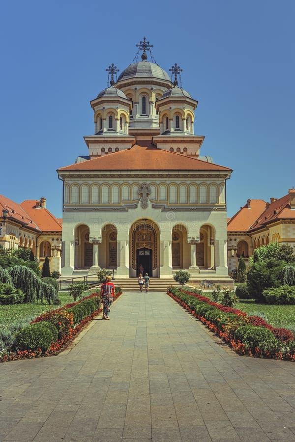 Cathédrale de couronnement, Alba Iulia, Roumanie photos stock