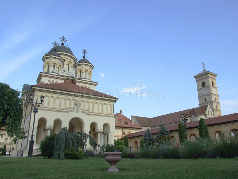 Cathédrale de couronnement dans Iulia alba photographie stock