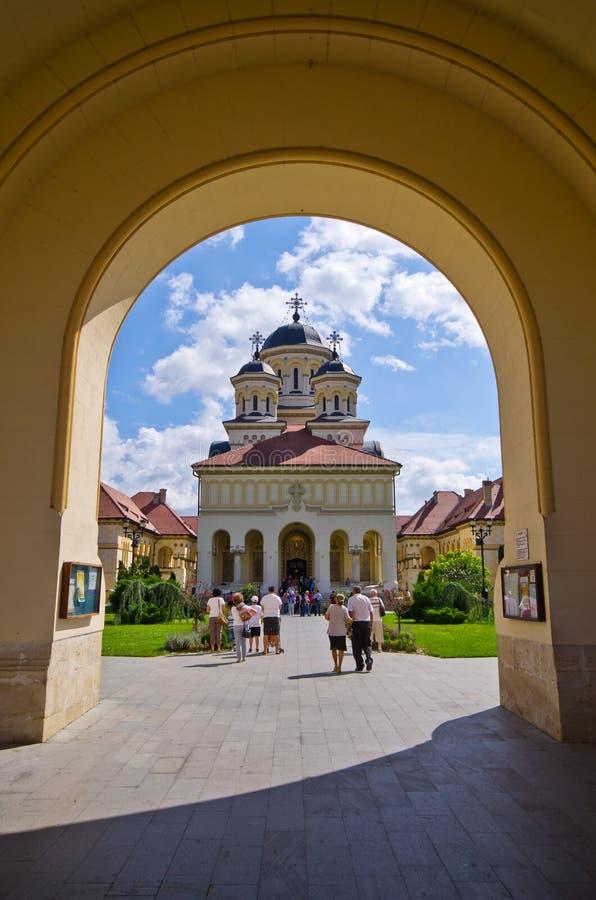 Cathédrale de couronnement dans Iulia alba images stock