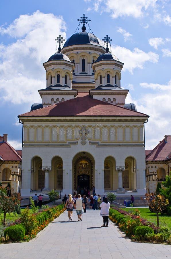 Cathédrale de couronnement dans Iulia alba image stock