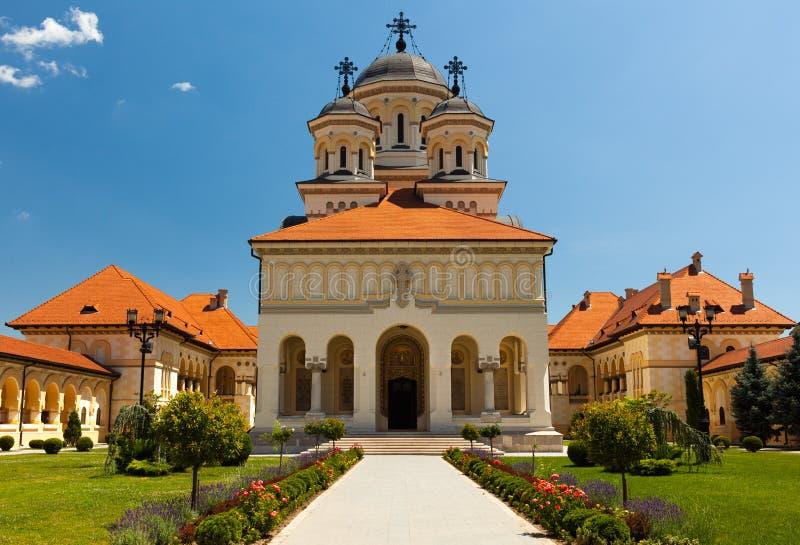 Cathédrale de couronnement dans Iulia alba, Roumanie photographie stock