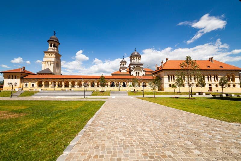 Cathédrale de couronnement dans Iulia alba, Roumanie image libre de droits