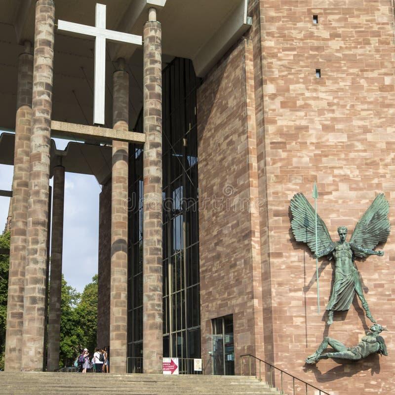 Cathédrale de Coventry au R-U photographie stock libre de droits