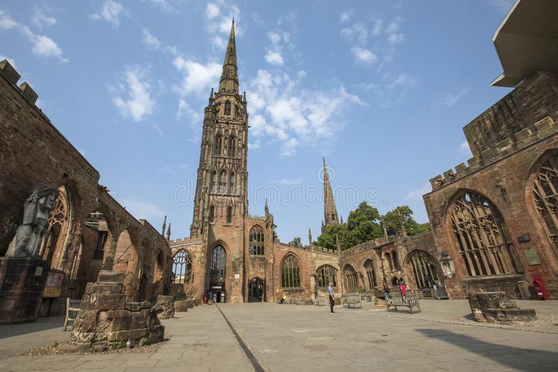 Cathédrale de Coventry au R-U image libre de droits