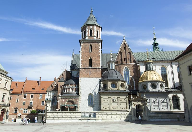 Cathédrale de Cracovie Wawel photos libres de droits
