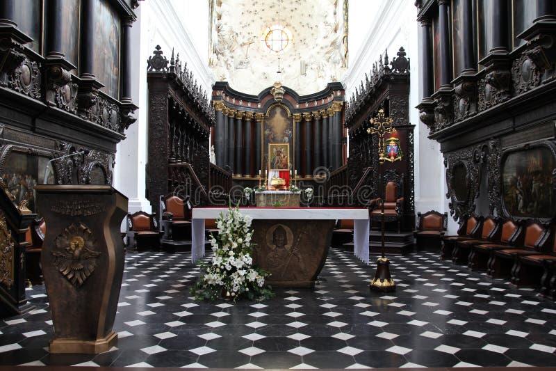 Cathédrale de Danzig - d'Oliwa images libres de droits
