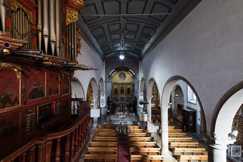 Cathédrale de Faro, dans Algarve, le Portugal images stock