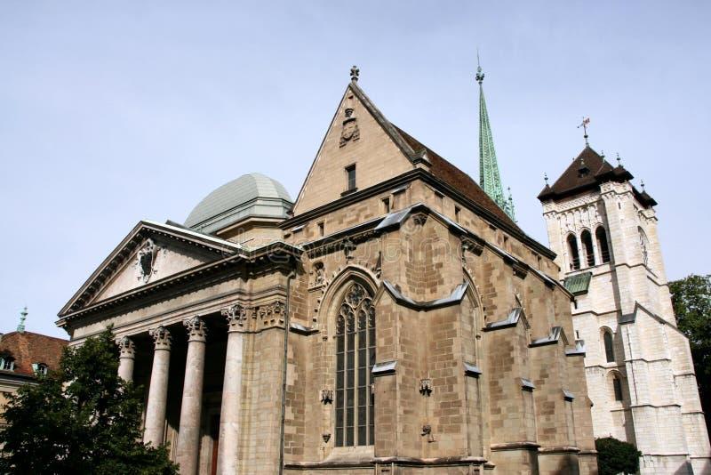 Cathédrale de Genève photos libres de droits
