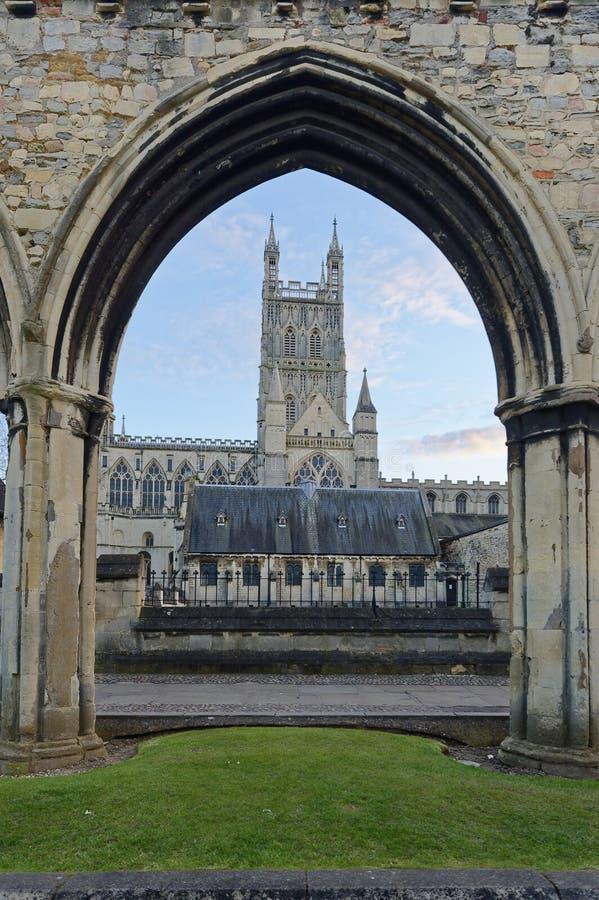 Cathédrale de Gloucester Hiver religieux image libre de droits