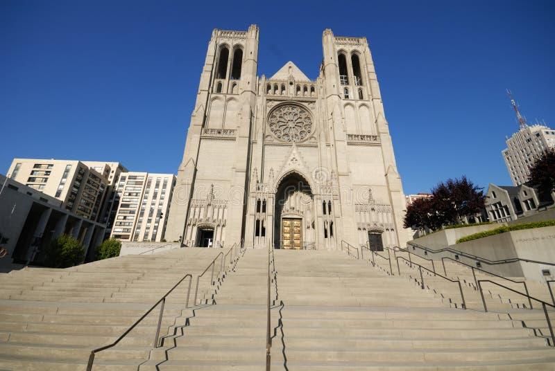 Cathédrale de grace - San Francisco images libres de droits
