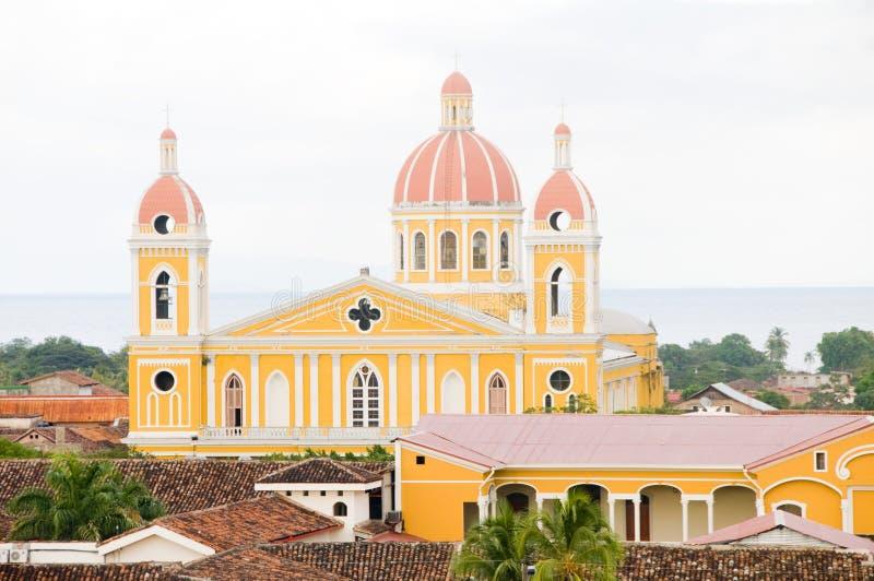 Cathédrale de Grenade Nicaragua image stock